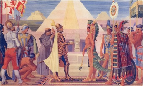 Cortez With The Aztecs